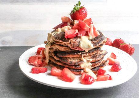 Paleo Erdbeere Pancakes