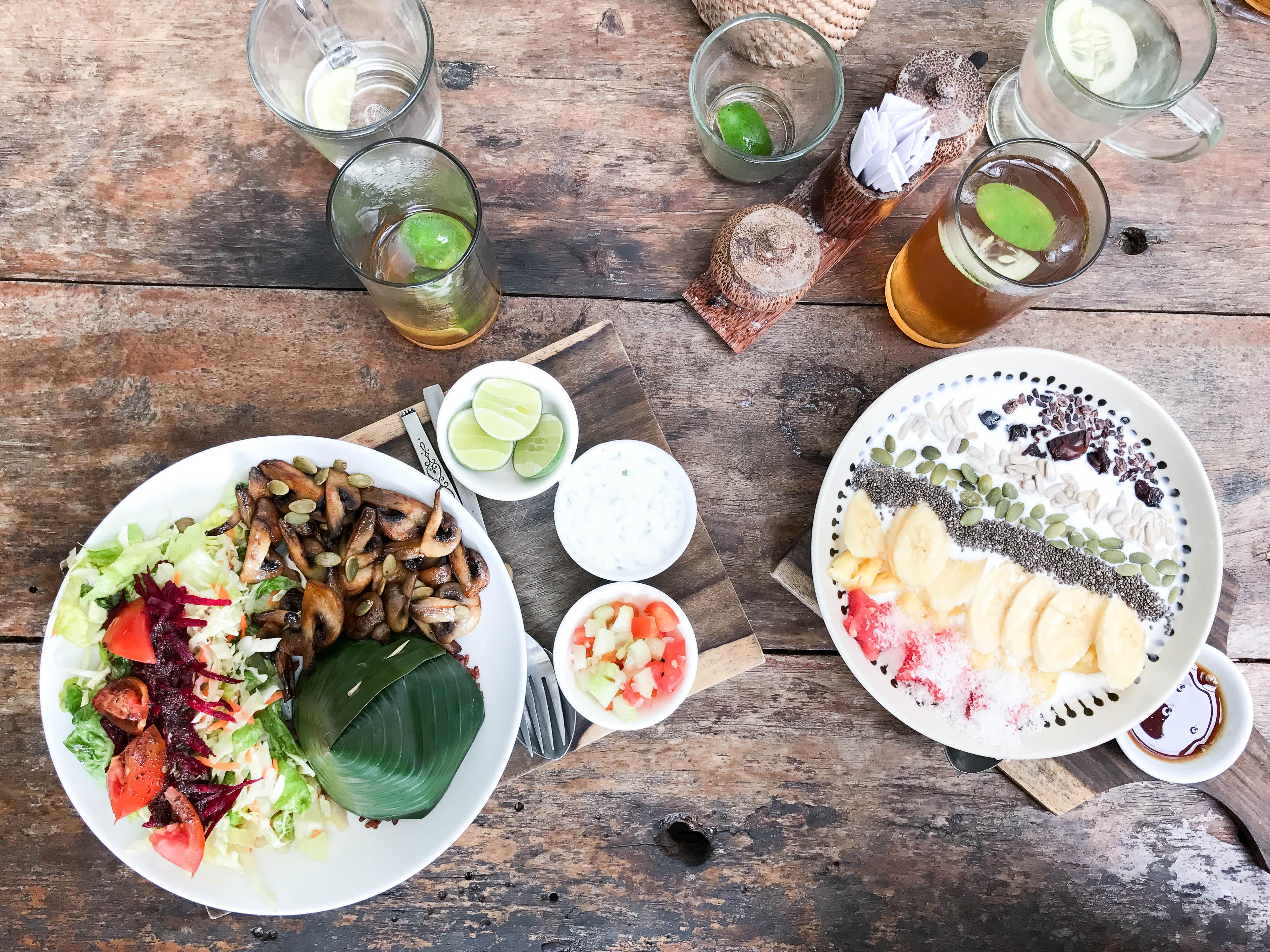 Frühstück im Pachamama Organic Café