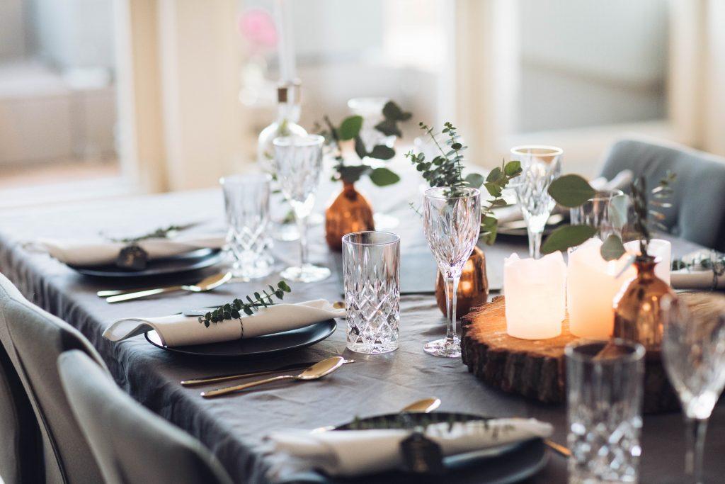 Abendessen Tisch Dekoration