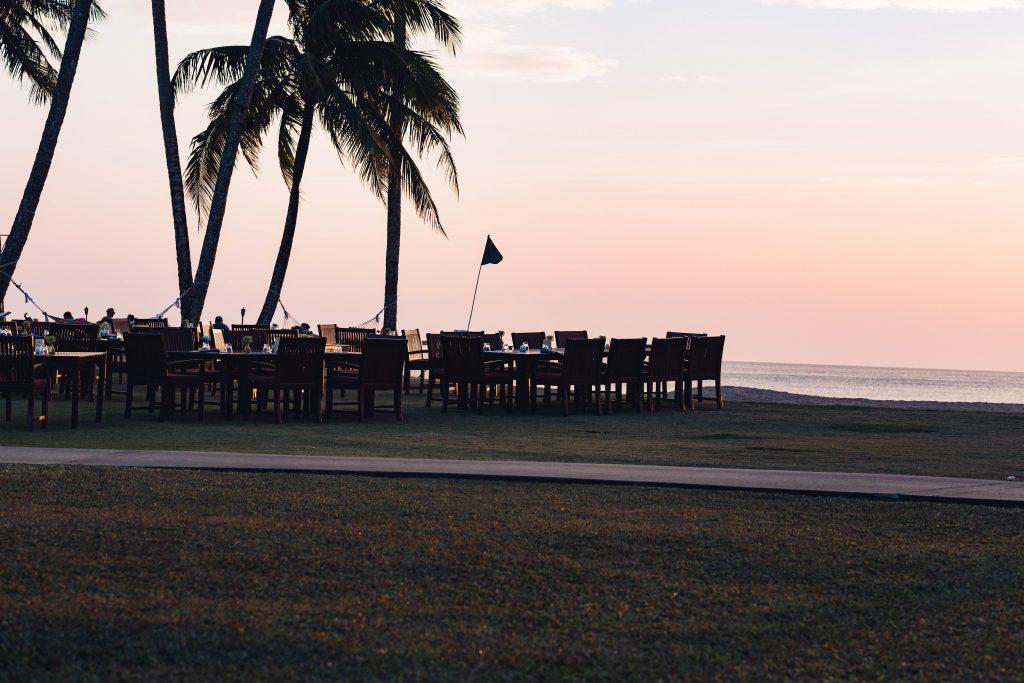 Das Restaurant direkt am Strand