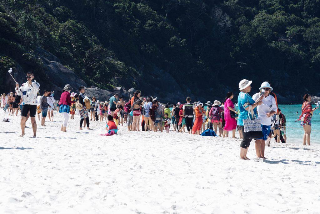 Touristen auf Similan Island