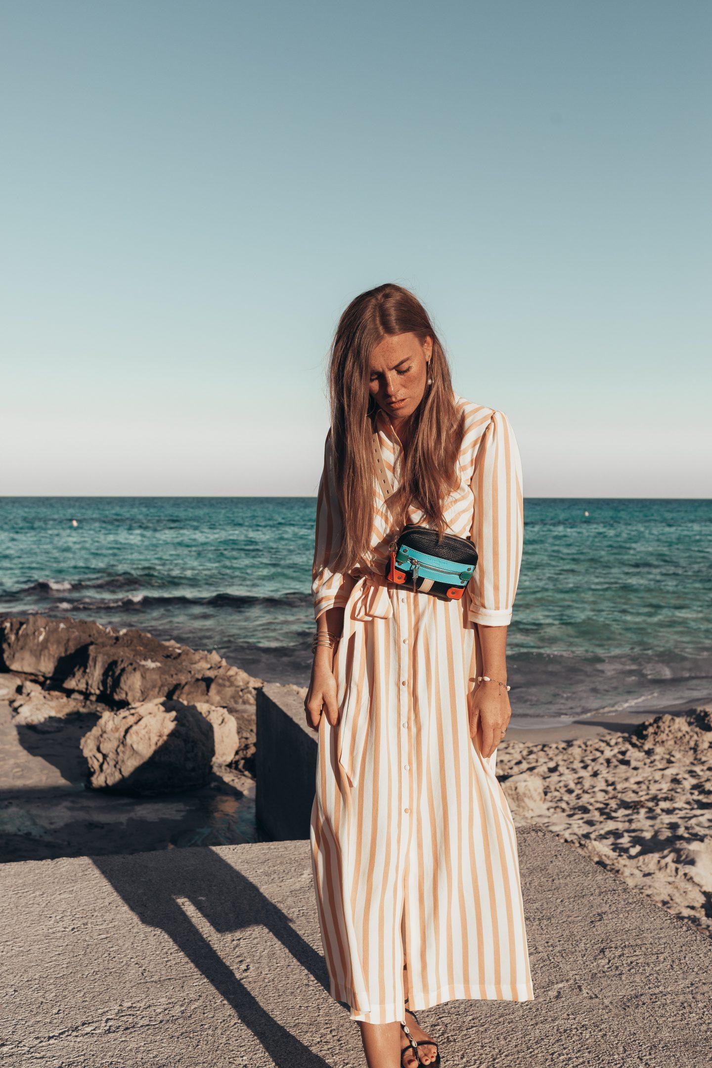 gestreiftes Selected Femme Kleid