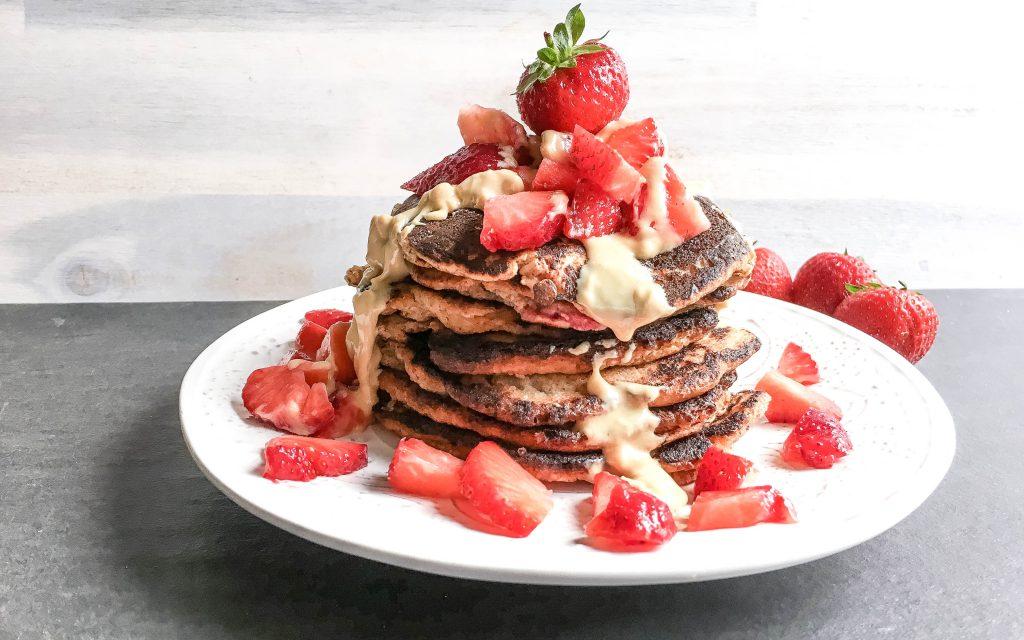 Paleo Erdbeer Pancakes